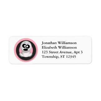 Cute Angry Ghost Halloween Return Address Labels