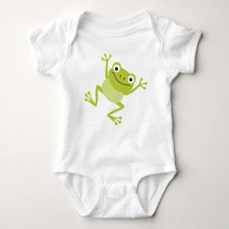 Cute Animal Baby Dancing Frog Baby Bodysuit
