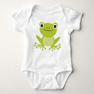 Cute Animal Baby Green Frog Baby Bodysuit