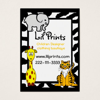 Cute Animal Boutique Business Card Tag