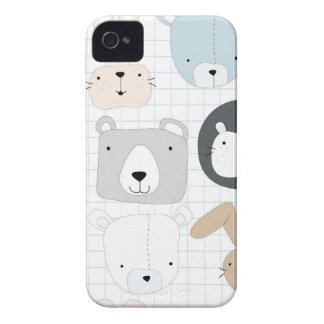Cute animal cartoon teddy bear ,lion and rabbit iPhone 4 case