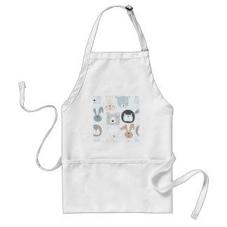 Cute animal cartoon teddy bear ,lion and rabbit standard apron