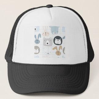 Cute animal cartoon teddy bear ,lion and rabbit trucker hat