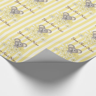 Cute Animal Koala Baby Shower / Birthday Yellow