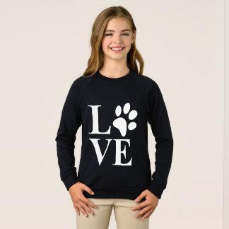 Cute Animal Lover Pet Paw Heart Sweatshirt