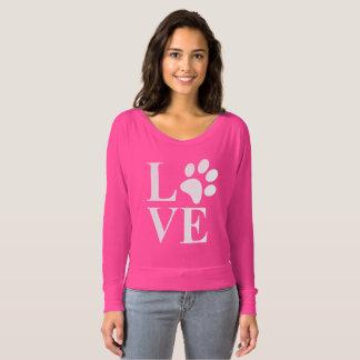 Cute Animal Lover Pet Paw Heart T-Shirt