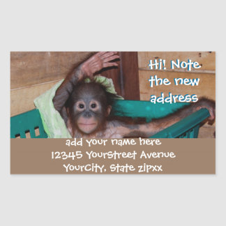 Cute Animal New Address Labels