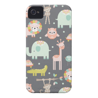 Cute Animal Party iPhone 4 Cover