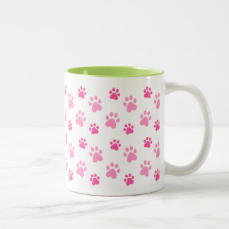 Cute Animal Paw Prints mug