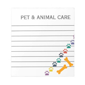 Cute Animal Pet Care Business Office Note Pads