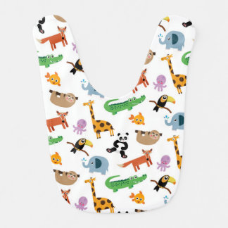 Cute Animal Print Bib