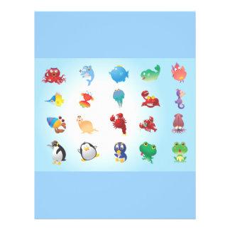 Cute-Animals cartoons adorable happy fun sweet Flyer Design