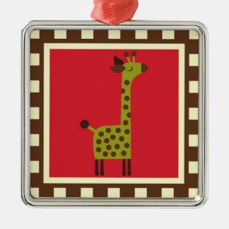 Cute Animals Giraffe Christmas Ornaments