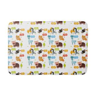 Cute Animals Kids Pattern Bath Mat