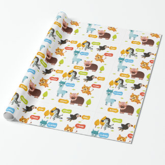 Cute Animals Kids Pattern Wrapping Paper