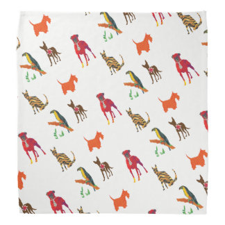 Cute Animals Pets Parade Cats Dogs Toucan Bandanas