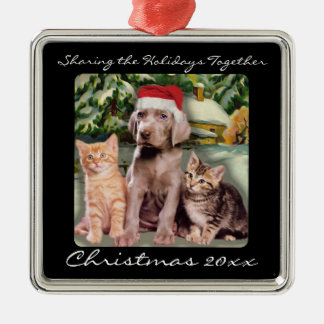 Cute Animals Puppy & Kittens Pet Personalized Metal Ornament