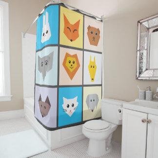 Cute Animals Shower Curtain