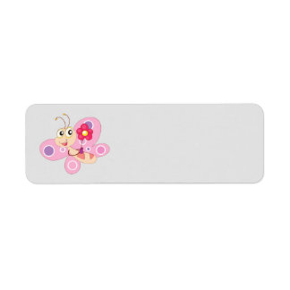 Cute animated Butterfly Return Address Label