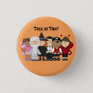 Cute animated children with Halloween Costumes 3 Cm Round Badge
