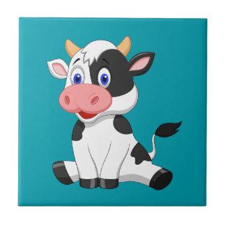 Cute animated Cow Ceramic Tile