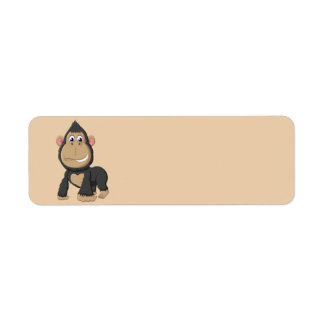 Cute Animated Gorilla Return Address Label