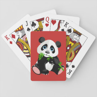 Cute animated Panda Bear Poker Deck