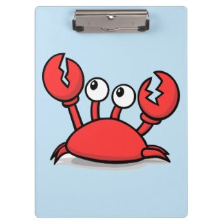 cute animated red crab clipboard