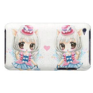 Cute anime cat girls iPod touch cases
