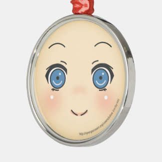 Cute Anime Face Christmas Tree Ornaments