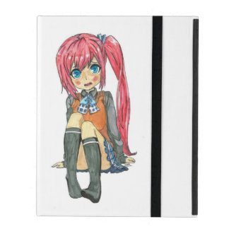 Cute anime girl iPad case