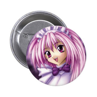 Cute Anime Girl Maid 6 Cm Round Badge