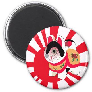 Cute Anime Japanese Flag Good Luck Cat Refrigerator Magnets