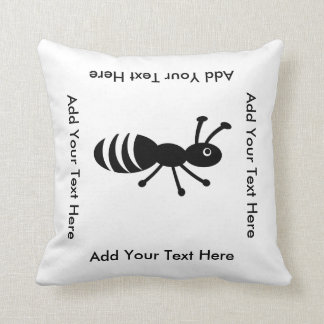 Cute Ant or Termite Funny Pest Control Throw Pillow