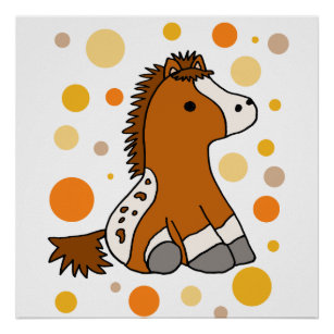 Cute Appaloosa Pony or Horse Abstract Poster