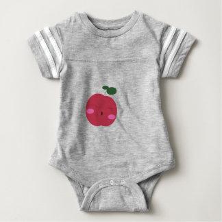 🍎Cute Apple ~ かわいいりんご. Baby Bodysuit