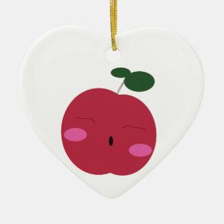 🍎Cute Apple ~ かわいいりんご. Ceramic Heart Decoration