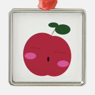 🍎Cute Apple ~ かわいいりんご. Metal Ornament