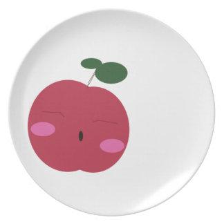 🍎Cute Apple ~ かわいいりんご. Plate