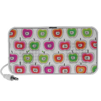 Cute apples fruit pattern doodle speaker