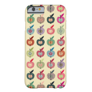 Cute Apples in Retro Style Barely There iPhone 6 Case