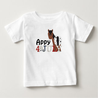 Cute Appy 4th of July Blanket Appaloosa Horse Baby T-Shirt