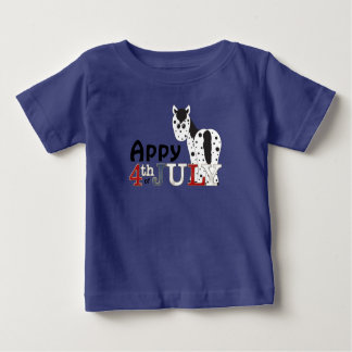 Cute Appy 4th of July Leopard Appaloosa Horse Baby T-Shirt
