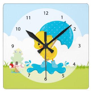 Cute April showers Clock
