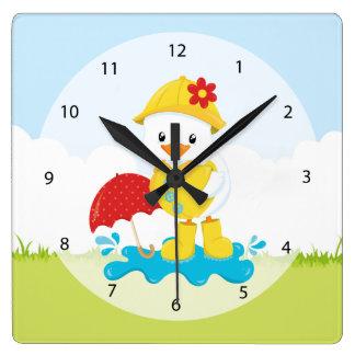 Cute April showers Clocks