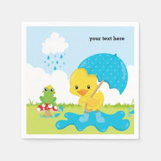 Cute April Showers Disposable Napkins