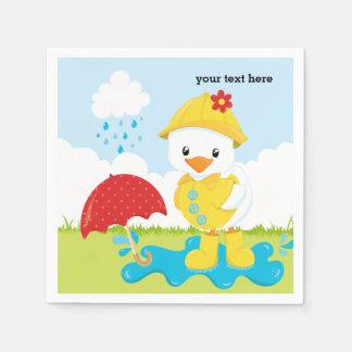 Cute April Showers Disposable Serviettes