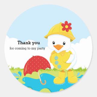 Cute April Showers Round Sticker