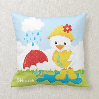 Cute April showers Throw Pillow