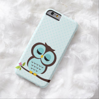 Cute Aqua Owl Case for the iPhone 4